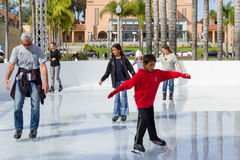 Ice skating in San Diego Royalty Free Stock Image
