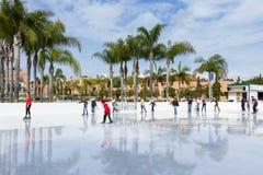 Ice skating in San Diego Stock Photo