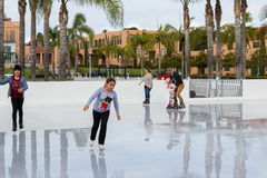 Ice skating in San Diego Royalty Free Stock Photo