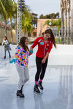 Ice skating in San Diego Royalty Free Stock Photos