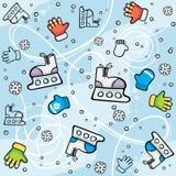 Ice-skating seamless background Stock Photo