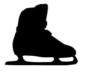Ice-skating shoe Royalty Free Stock Image