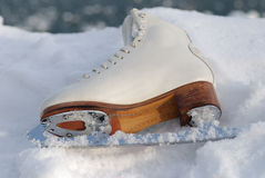 Ice skating shoe Royalty Free Stock Photos