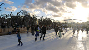 Winter in Amsterdam stock images royalty free stock image