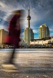 Ice Skating in Toronto royalty free stock image