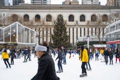 Free Ice Skating Under A Christmas Tree Royalty Free Stock Photo - 136189005