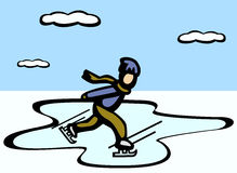 Ice skating vector illustration Stock Images
