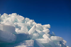 Ice and sky. Royalty Free Stock Photo