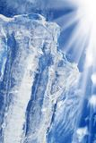 Ice  sky  clouds  iceberg Royalty Free Stock Images