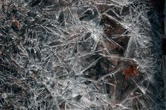 ICE SLAB TEXTURE Stock Photography