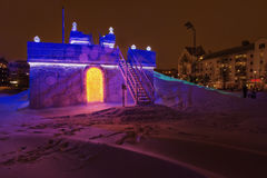 Ice sled castle Sweden Royalty Free Stock Images