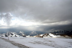 Ice slope of Mount Elbrus Stock Images