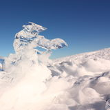 Ice and Snow. In Pyrenees,Aude,Languedoc region of France Royalty Free Stock Photography