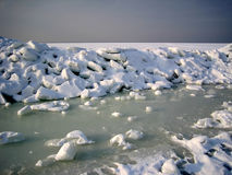 Ice and snow. Royalty Free Stock Images