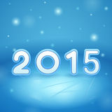 2015 on Ice and snow. On blue stock illustration