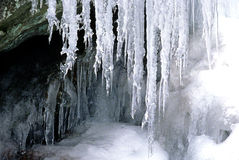 Ice and snow cave Stock Image