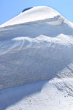 Ice and snow of the Jungfraujoch in Switzerland royalty free stock photography