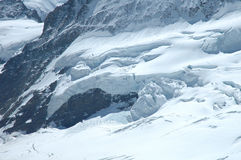 Ice and snow nearby Jungfraujoch in Alps in Switzerland Royalty Free Stock Photos