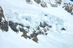 Ice and snow nearby Jungfraujoch in Alps in Switzerland Royalty Free Stock Photo