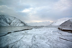 Ice and snow tibetan plateau Stock Images