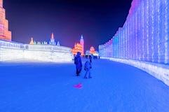 Ice and Snow World Festival 2019, Harbin, Heilongjiang, China royalty free stock photography