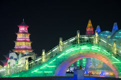 Ice snow world in harbin,2014 Stock Images