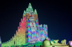Ice snow world in harbin,2014 royalty free stock photography