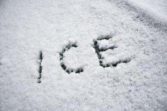 Ice in snow Stock Photography