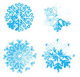 Ice snowflakes Stock Photos