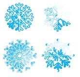 Ice snowflakes Stock Photos