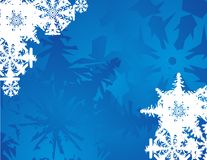 Ice and snowflakes. Elegant blue background with snowflakes for wrap papper, papper bag or wallpaler. card Royalty Free Stock Image