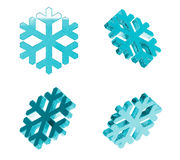 Ice Snowflakes Set Stock Photo