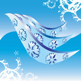 Ice and snowflakes vector illustration. Stock Images