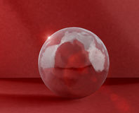 Ice sphere. On the red Stock Illustration