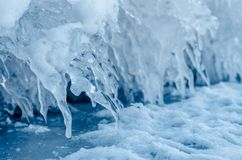 Ice spikes. Stock Image