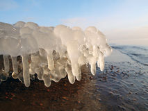 Ice stalactites Stock Photography