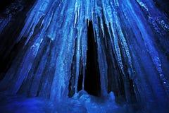 Ice stalactites Stock Images