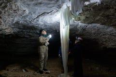 Ice stalactites Royalty Free Stock Image