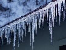 Ice stalactites Royalty Free Stock Photos