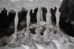Ice stalactites, Slovak Paradise National park, Slovakia Stock Photos