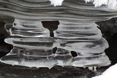 Ice stalactites, Slovak Paradise National park, Slovakia royalty free stock photos