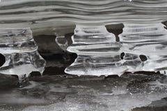 Ice stalactites, Slovak Paradise National park, Slovakia stock images