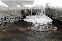 Ice stalactites, Slovak Paradise National park, Slovakia Royalty Free Stock Photo