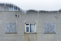 Ice stalactites and windows. Stock Photography