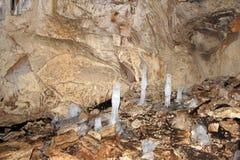 Ice stalagmites in Tatiana's grotto. Stock Photos