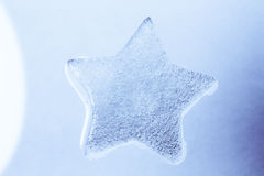 Ice star. Five ice star / snow star Royalty Free Stock Image