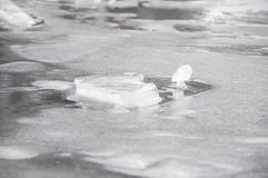 Ice details. Ice is the state in which the water stays when it is at low temperature and gives it the solid consistency Stock Images