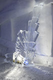 Ice statue in an Igloo at Engelberg Royalty Free Stock Image