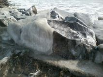 Ice stone. This is picture from pomorie,Bulgaria Stock Image