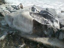 Ice stone Stock Image